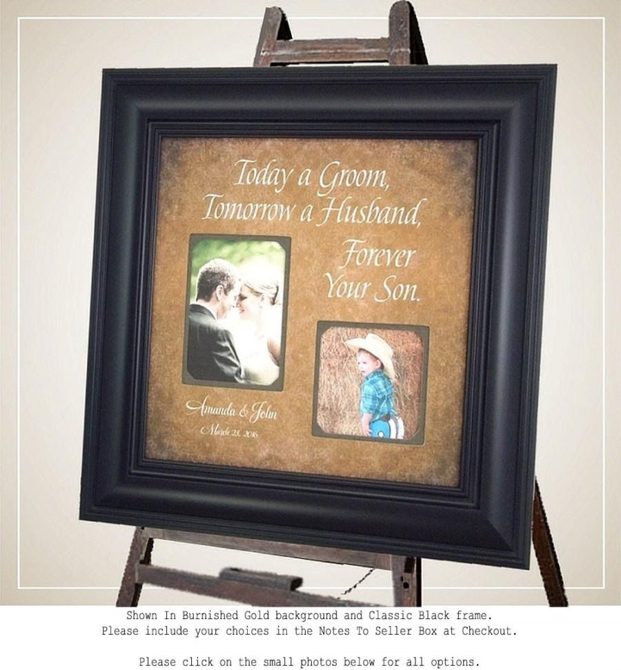 Personalized Wedding Gift Picture Frame Groom Sign Parents Today