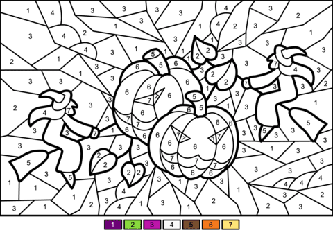 halloween colornumber  coloringnori  coloring pages for kids