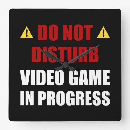 Do Not Disturb Video Game Square Wall Clock