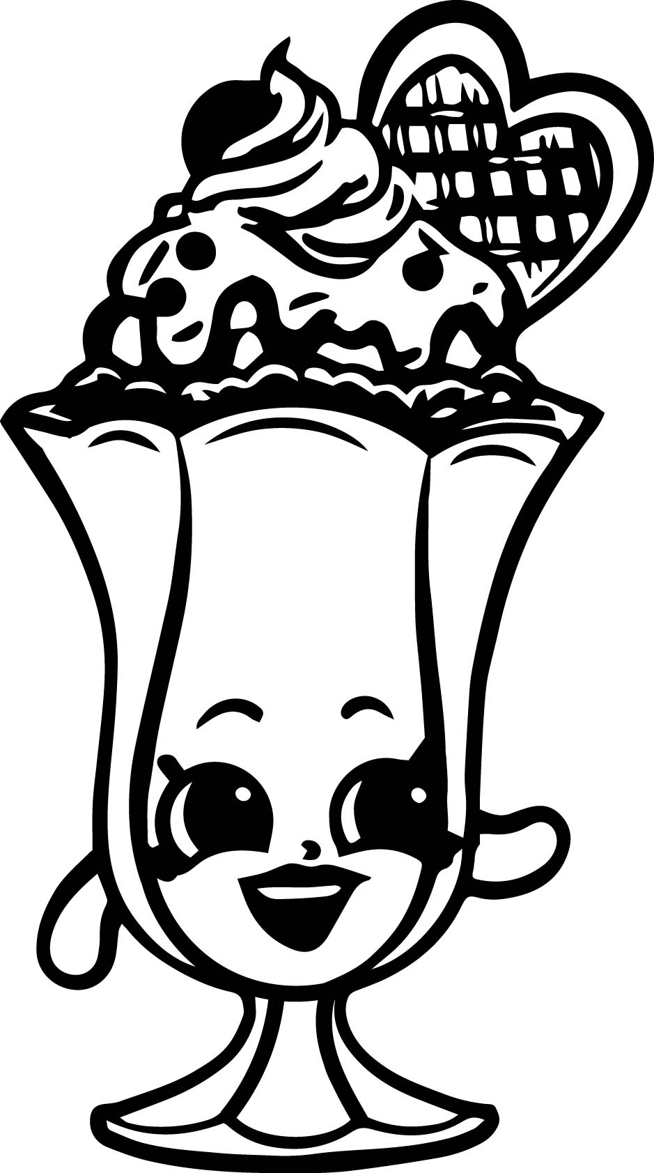 31 EASY SHOPKINS COLORING PAGES
