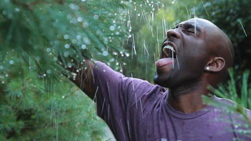 Kieran water from tree