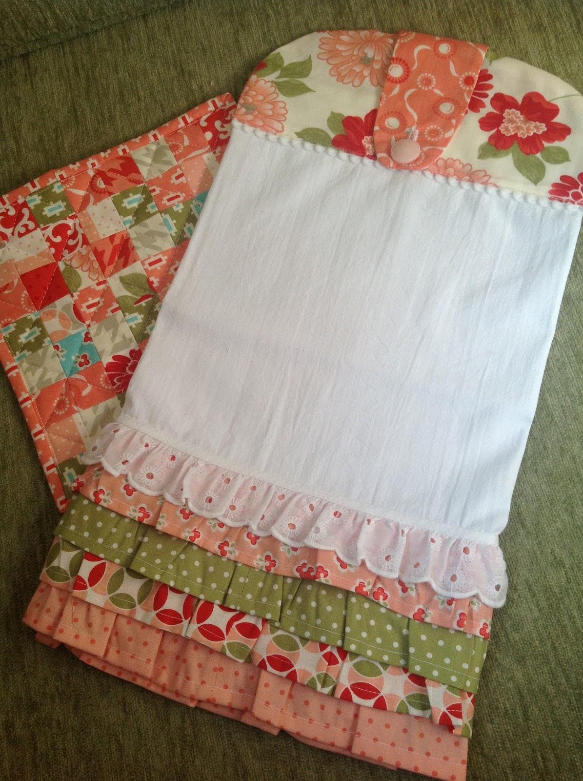 Sewing Pattern Kitchen Towel Holder