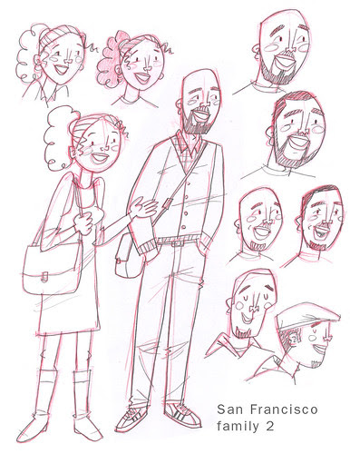 SF Family sketches 2