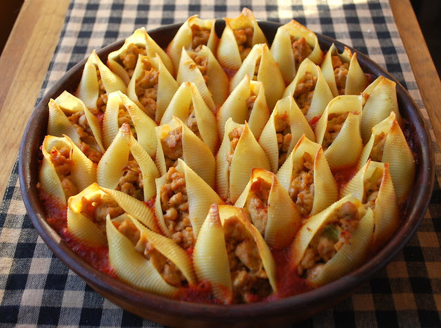 Stuffed Shells - cooked