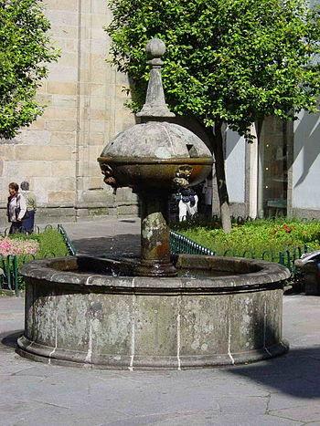 Resultado de imagen de plaza  de fonseca santiago de compostela