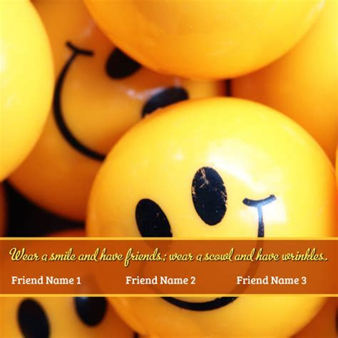 Smiley Smile Friendship Quotes with Friend Name ? Write