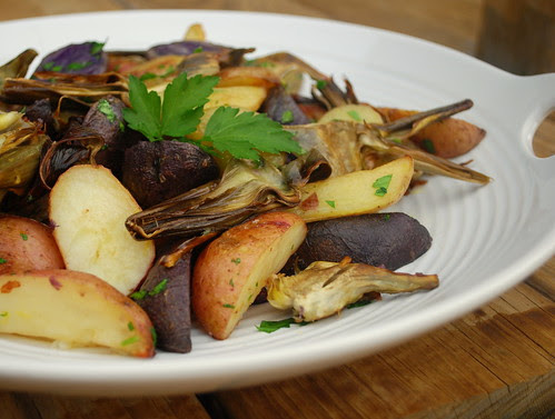 Roasted Potatoes with Artichokes CU