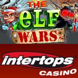 Rudolph Battles Santa and his Elves in Intertops Casino New The Elf Wars Slots Game