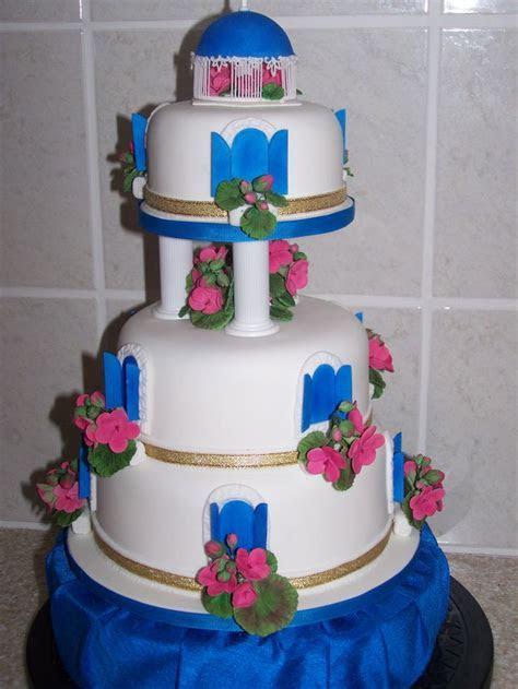 Blue Greek Themed Wedding   My take on a Santorini themed