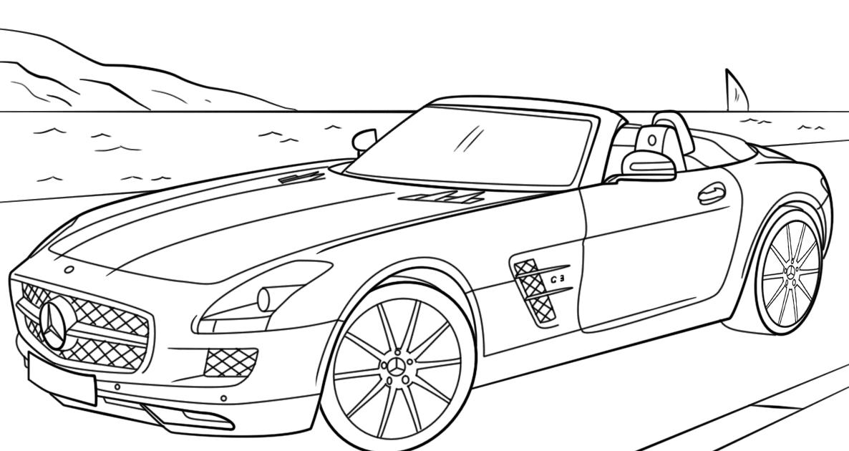 ausmalbilder autos mercedes amg