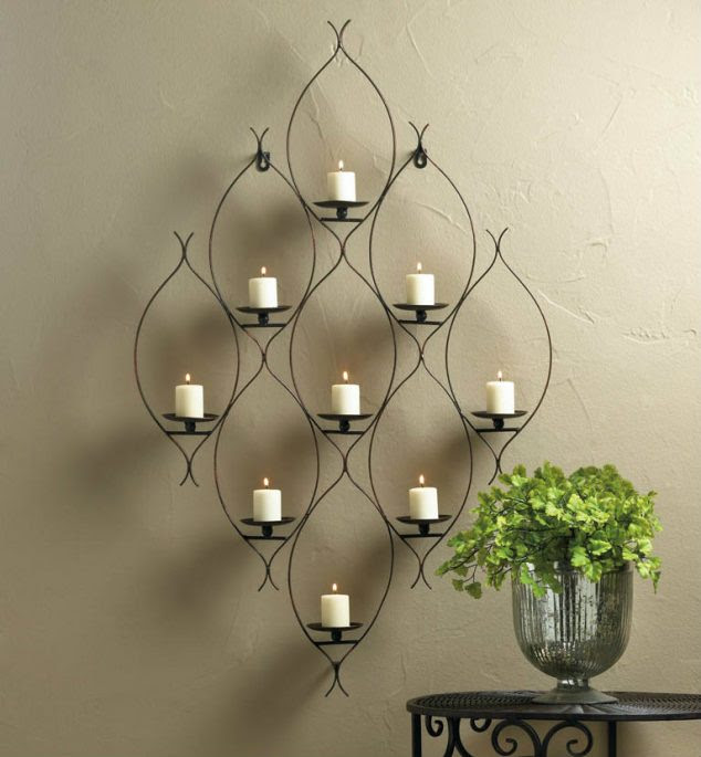 10016154z  27371 634x685 15 Chic Wrought Iron Wall Candle Holders You Will Admire