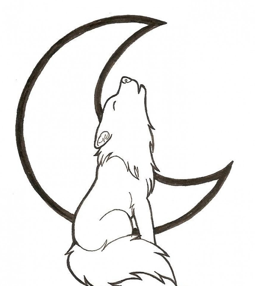Get This Free Printable Wolf Howling Coloring Pages 57821