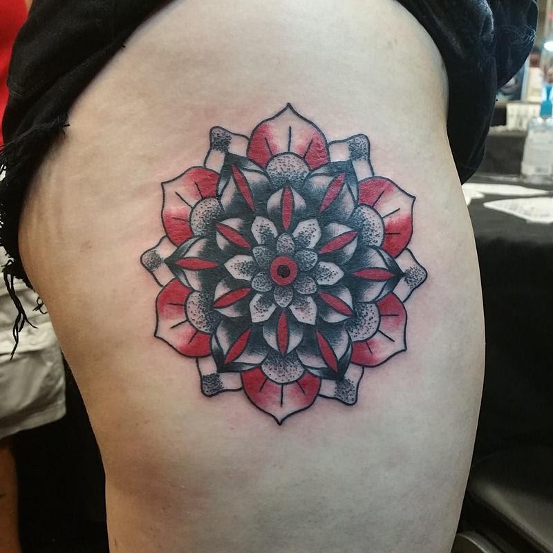 Rebel Muse Tattoo Tattoos Flower Black Red Mandala