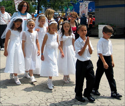 First Holy Communion kids