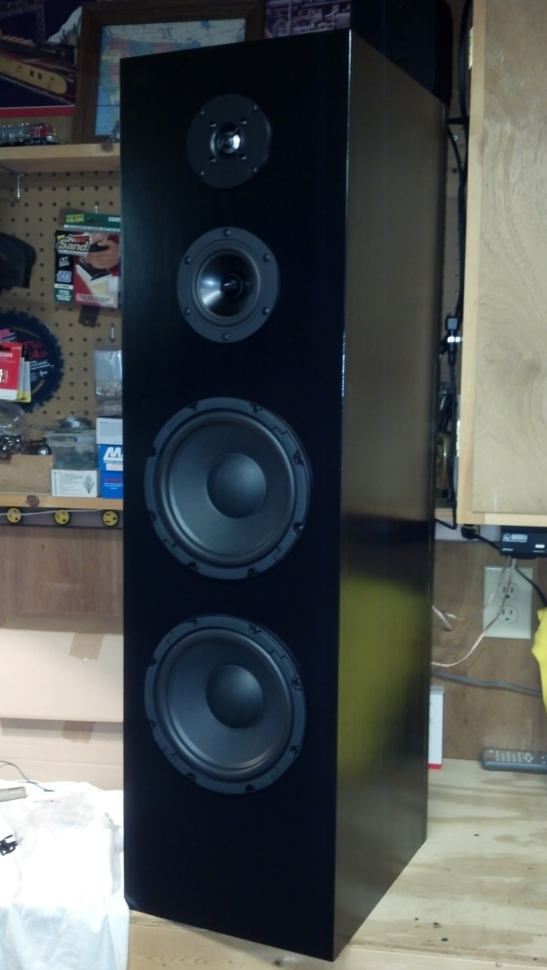4 Driver 3 Way Floor Standing Tower Speaker Parts Express Project