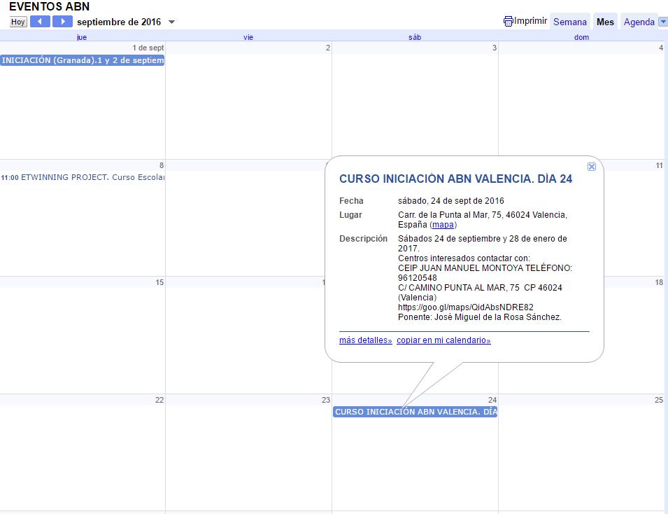 calendario modo mes