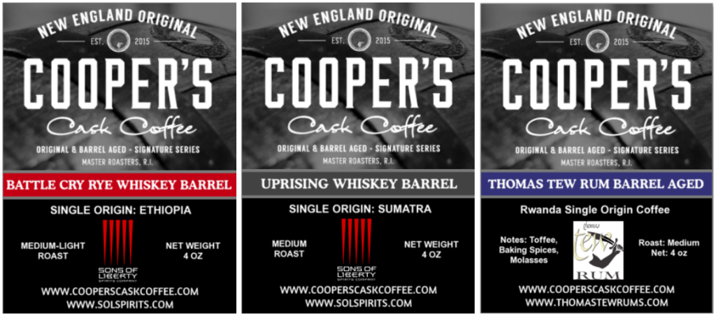 Whiskey & Rum Barrel Aged Coffee Beans, Single Origin, Imported World Wide.