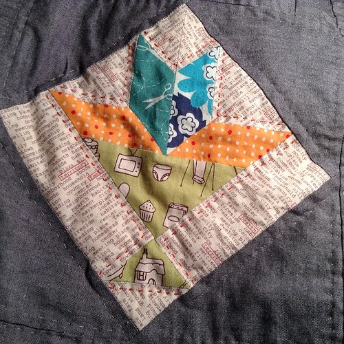 Some orange quilting #farmerswifequilt