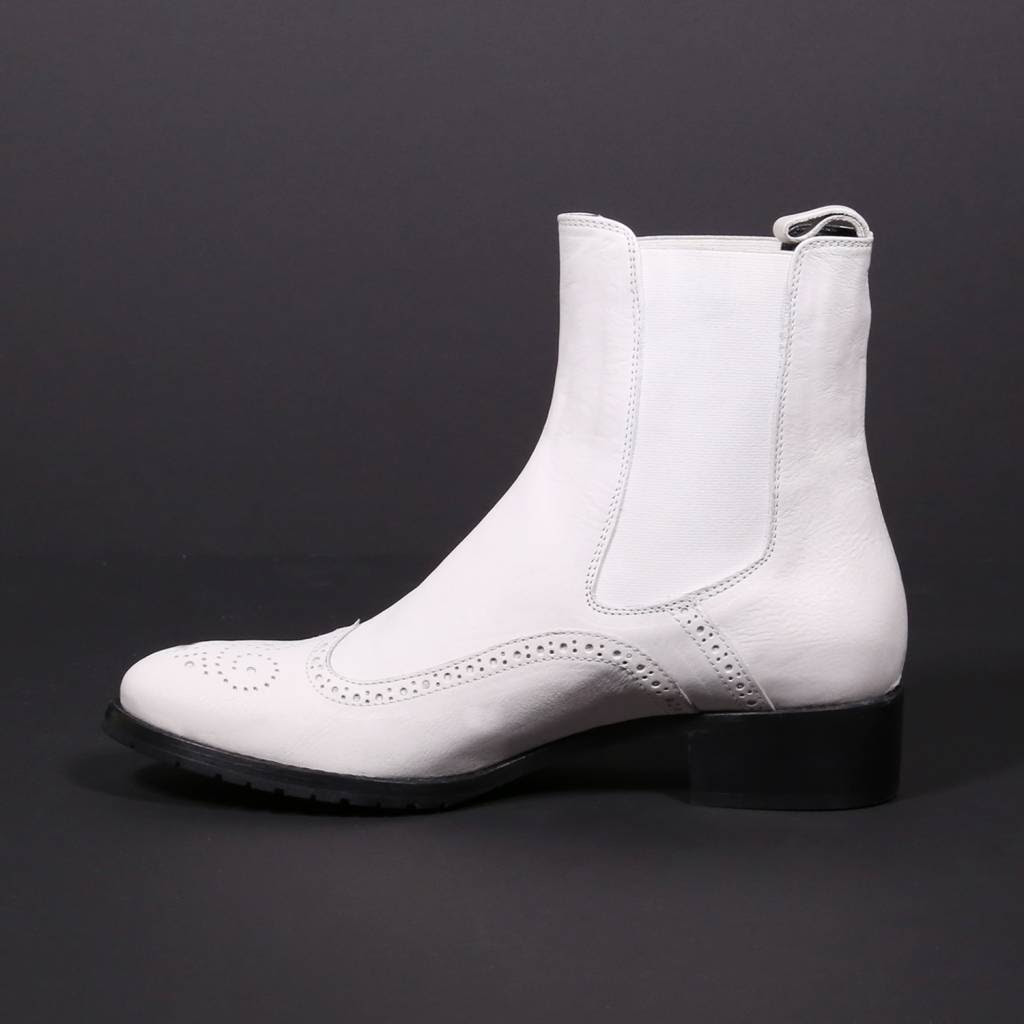 White chelsea boots - 28 images - officine creative white