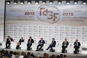 Panelists, from left: former Russian Finance Minister…
