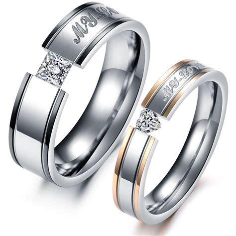 Fashion Heart AAA Cubic Zirconia Rhinestone Steel Couple