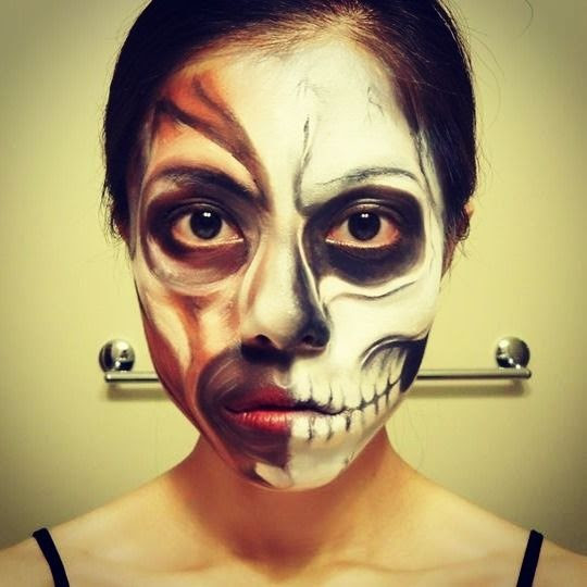 Skull and face muscles makeup