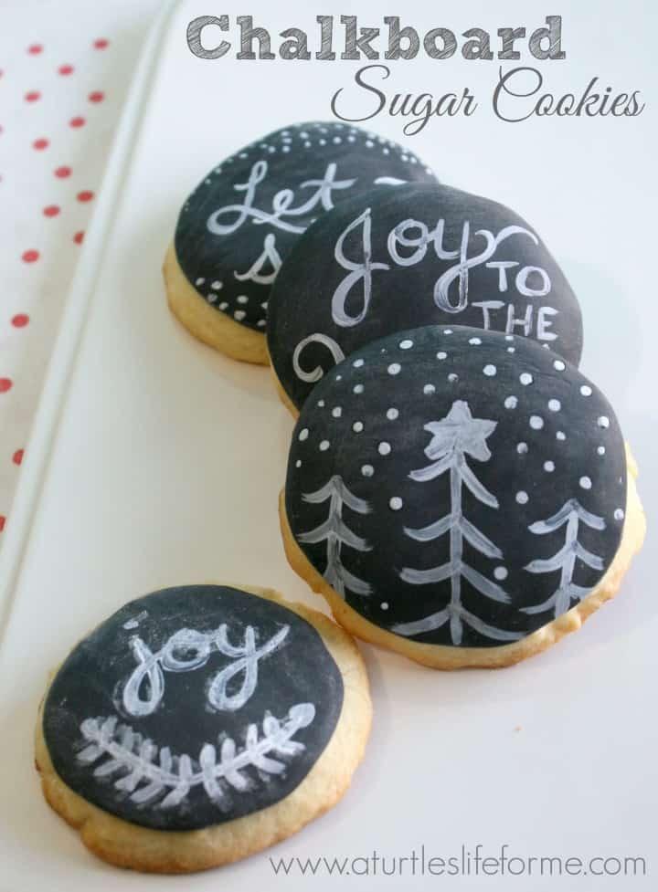 chalkboard sugar cookies wilton fondant