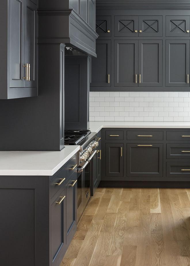 Hot New Kitchen Trend: Dark Cabinets, Subway Tile ...