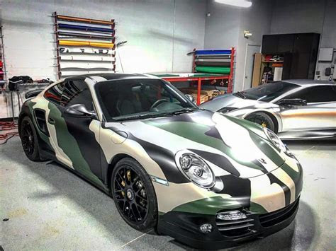 Camo Porsche Turbo S Wrap Design ? Skepple Inc