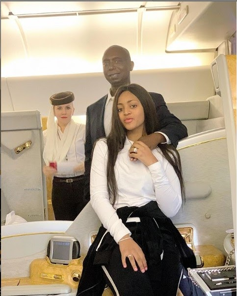 Regina Daniels And Husband, Ned Nwoko Looking Good Inside An Airplane