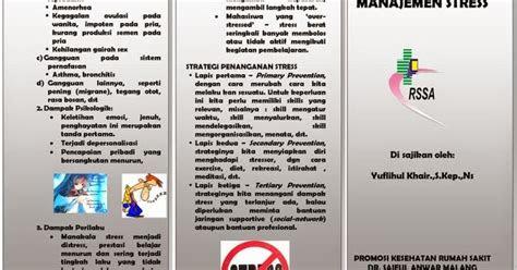 leaflet manajemen stres ebooks yuflihul khair