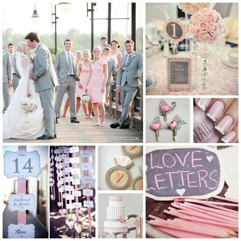 Blush Pink and Light Grey Wedding Inspiration Board