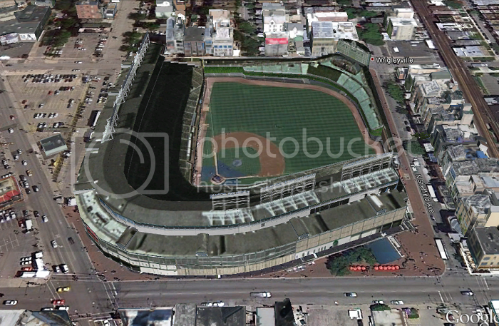 Wrigley Field (Chicago, IL); 3D model by Google 3D Warehouse