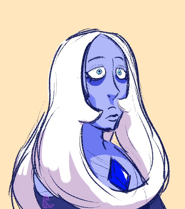 I like the coloring on this one too! The coloring might seem too soft...hmm I saw the episodes, and they were amazing! I love Blue Diamond's design she's just so loopy! It's so nice to see the diam...