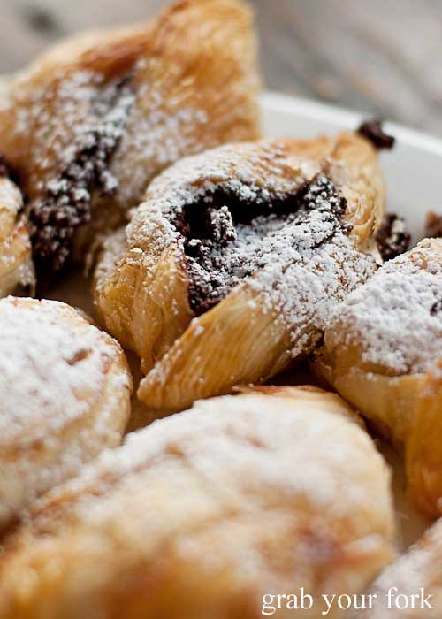 chocolate and ricotta pastizzi