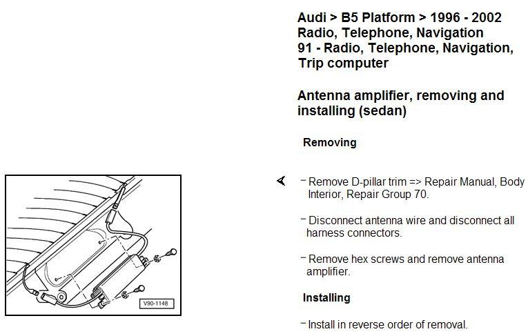 1996 Audi A4 Fuse Diagram