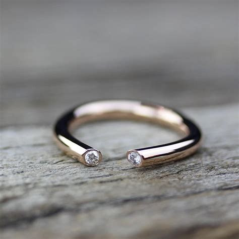 Open Diamond Gold Engagement Ring 14K Gold, Alternative
