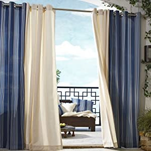 Amazon.com - Outdoor Decor Gazebo Stripe Grommet Outdoor Curtain