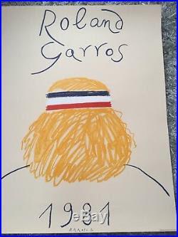 Poster Affiche Roland Garros 1981 Parfait Etat Galerie ...