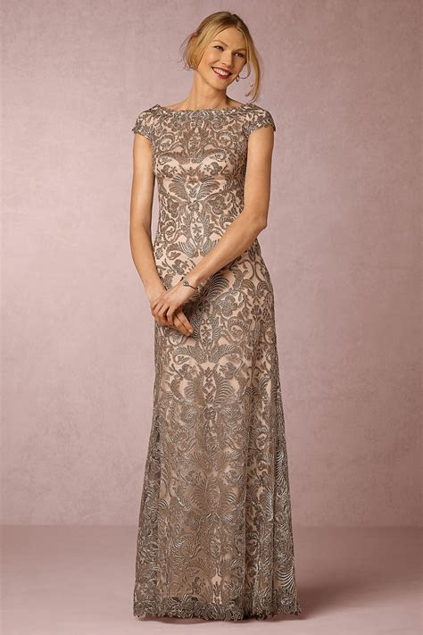 Gold, Taupe, and Neutral Mother of the Bride Dresses in