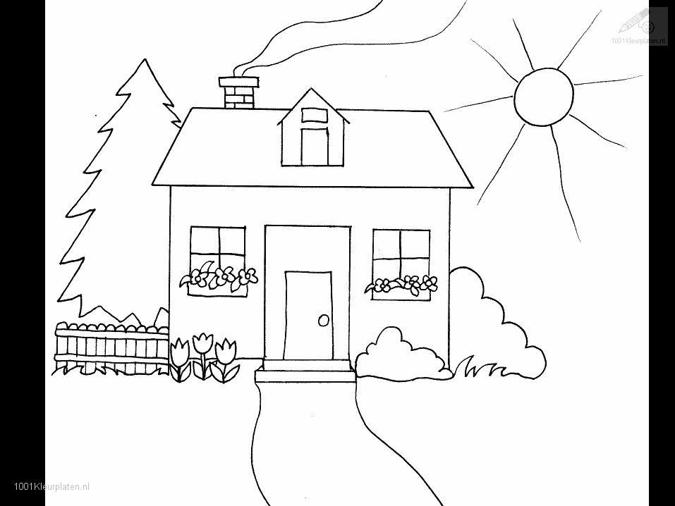House And Garden Colouring Pages Page 3 Coloring Home