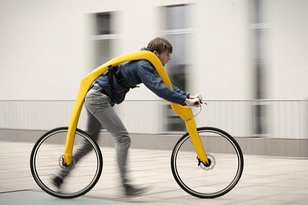 nueva bicicleta sin pedales ni asiento en alemania