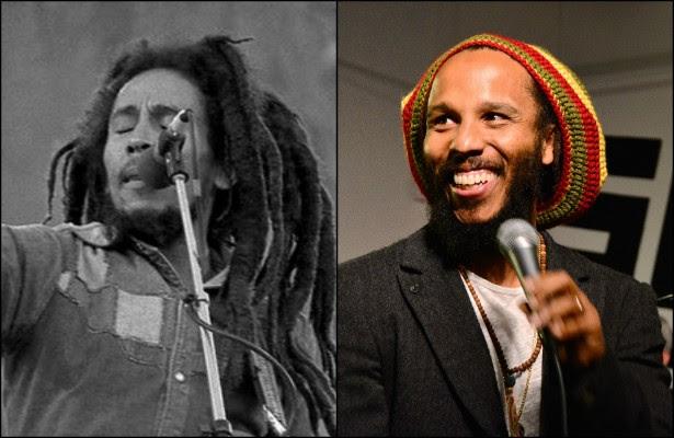 Ziggy Marley, filho do legendário Bob Marley (1945-1981), perdeu o pai quando tinha 13 anos. Mas o legado do reaggae falou mais alto na vida de Ziggy. Ele fez tanto sucesso quanto o pai? Claro que não. Mas pode se orgulhar de ser o mais famoso dos 11 filhos (reconhecidos oficialmente) de Bob. (Foto: Getty Images e Eddie Mallin/Creative Commons)