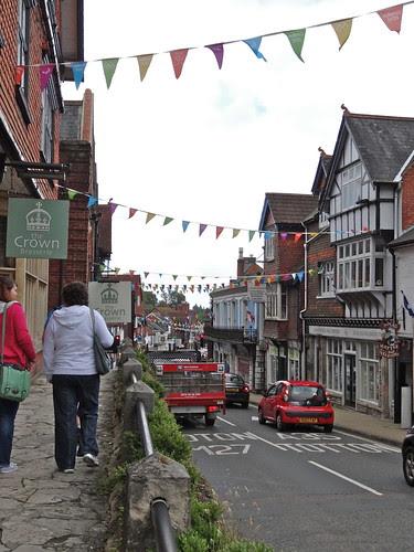 The high street in Lyndhurst