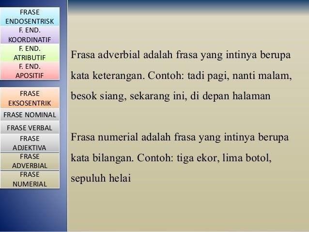Contoh Frasa Adjektiva Koordinatif Contoh Lem