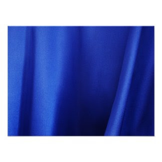 Flowing Blue Silk Fabric Abstract Poster
