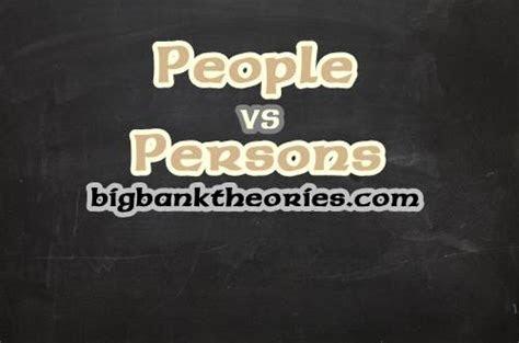 beda people  persons sebagai bentuk plural  person