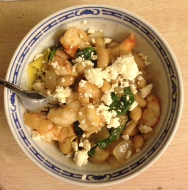 Shrimp White Beans