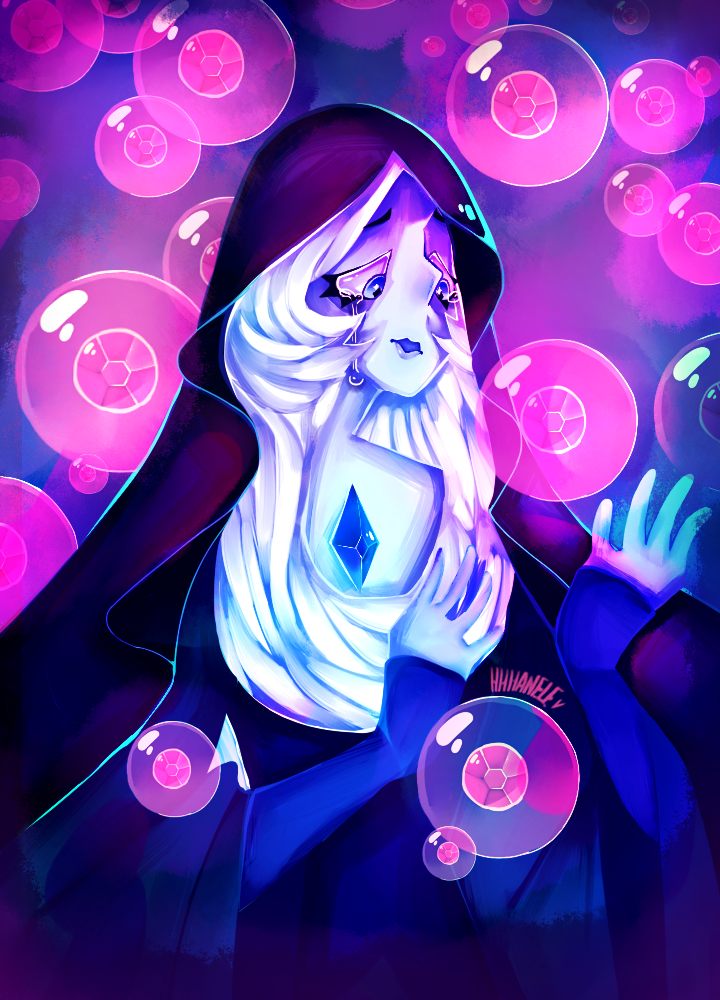 ...of feeling blue? Watched all of the SU leaks and as soon as I saw this beauty's face I instantly fell in love with her. Speedpaint Link :youtu.be/nYIq7WZprGs Steven Universe (C) Rebecca Su...