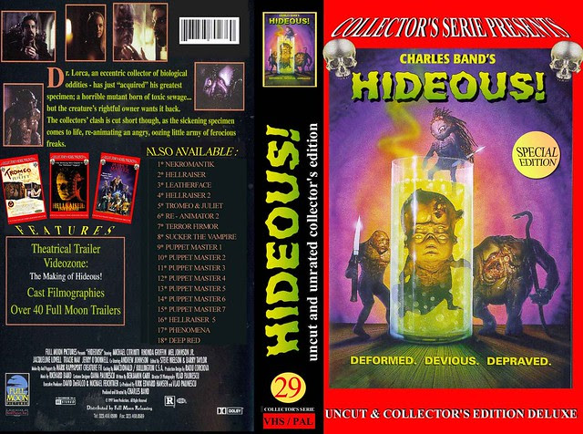 HIDEOUS (VHS Box Art)